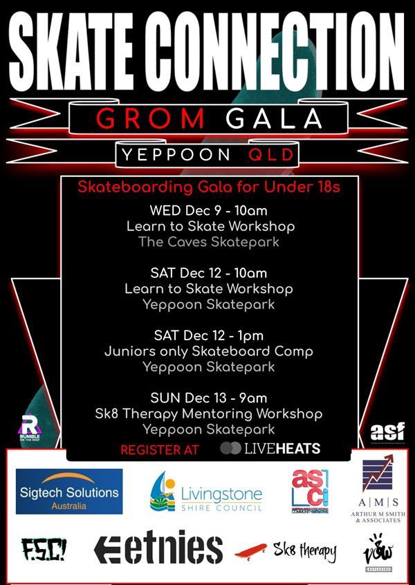 Grom Gala Yeppoon - Skate Comp & Workshop - QLD 2020