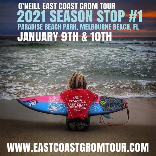 O'Neill East Coast Grom Tour #1 - Paradise Beach Park Melbourne Beach, FL 2021