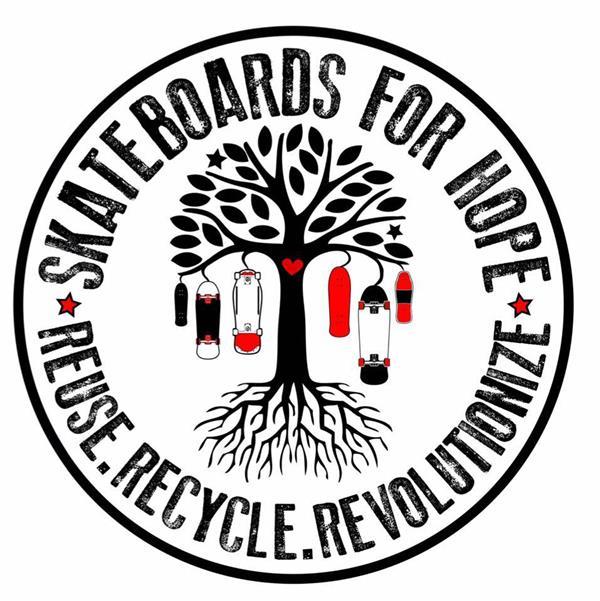 Skateboards for Hope kids at Jackalopefest 2018