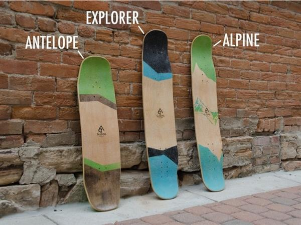 Skateboards that turn into Snowboards