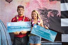 Barron Mamiya & Zoe McDougall win first WSL Hawaii event at Sunset Pro Junior