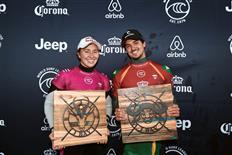 Carissa Moore and Gabriel Medina Win Corona Open J-Bay 2019