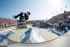 Chris Russell takes home trophy #2 from the Vans Pro Skate Park Series