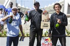 Dlamini Dlamini wins the Red Bull Unlocked in Durban