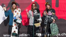Elena Koenz and Moritz Thoenen crowned the Swiss Slopestyle Champions at Corvatsch