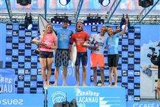 French Pair Maud Le Car and Marco Mignot Claim 2019 Caraïbos Lacanau Pro Titles