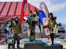 Halfpipe podium at Cardrona Games taken by Japanese riders