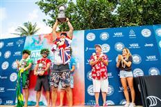 Hawaiian Ezekiel Lau Wins Vans World Cup of Surfing