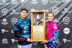 John John Florence and Courtney Conlogue Win Rip Curl Pro Bells Beach 2019