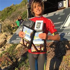 Super stoked to take double wins last weekend at creek for the @nssasurf in the men's and juniors divisions.