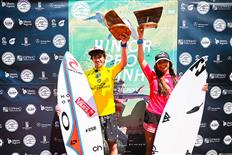 Lander Davila & Teresa Bonvalot capture the win at the Junior Pro Espinho