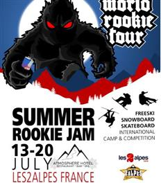 Last call to the 2019 Summer Rookie Jam, July 13-20, Les 2 Alpes, France!