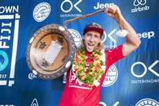 Matt Wilkinson takes Jeep Leader Jersey after winning Outerknown Fiji Pro