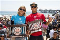 Sage Erickson and Kanoa Igarashi Crowned Champions at Vans US Open of Surfing 2017