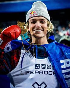 X Games Men's Superpipe Gold Medalist.