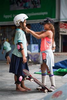 Skater Girl Sky Brown... And Her Socks