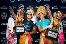 Stephanie Gilmore and Kanoa Igarashi Win Corona Bali Protected 2019