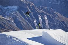 Successful FIS-level slopestyle competitions take place in Switzerland and Spain
