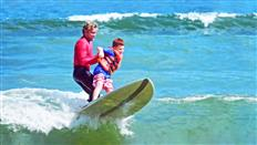Surfing with autistic children the