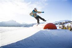The sun always shines at Snowpark Alta Badia