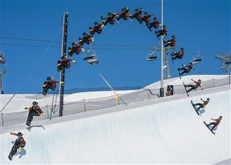Valentino Guseli sets world record in the LAAX superpipe